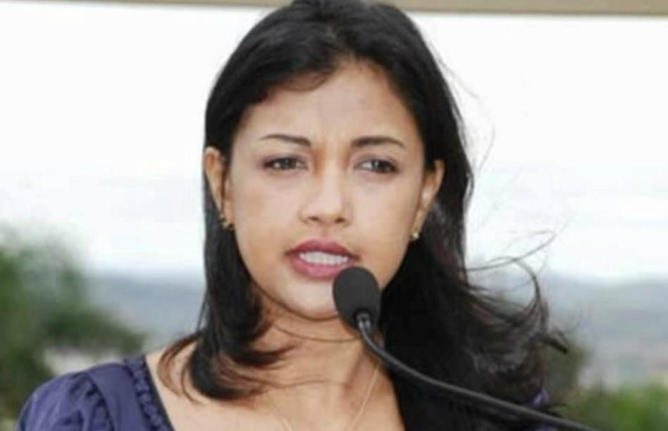 Madagaskars førstedame, Mialy Rajoelin.
