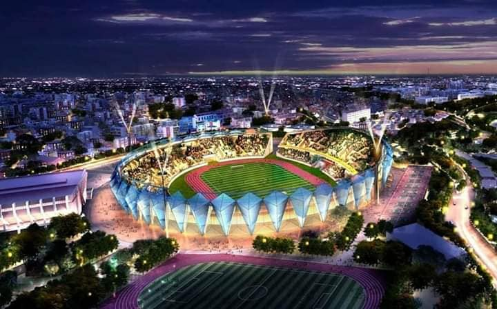 Mahasina stadion, når det en dag står ferdig.